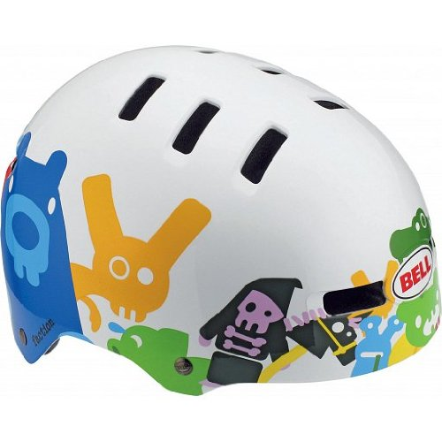 BELL Fahrradhelm FACTION 10, White Critters, L (59-63cm), 210027060