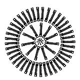 TIMESETL 100pezzi Nero Ganci Appendi Quadri Gancio per Foto per Cornice, Gancio per Cornice Set di 200 pezzi Viti per Gancio per Dente di Sega, Doppio Foro per Vite, Inossidabile