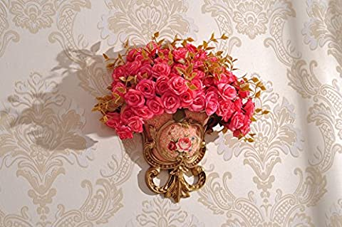 The European Home Furnishing Wall Hanging Wall Mural Decorations Hang The Wall Flower Vase Of Flower Ornament Inserted