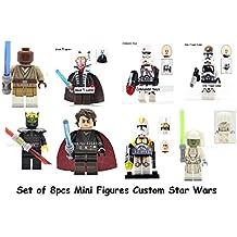 Juegos de construccion - Blocks - 8pcs Minifigure - Jedi consular Savage Opress utapau trooper Mace windu Clone commander Shaak-Ti Commander Neyo - Star Wars - minifigura Star wars Jedi - générica