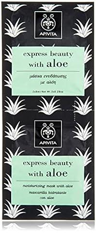 Apivita express beauty moisturizing mask with aloe 2x8ml