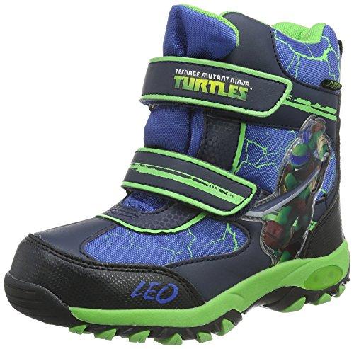 Turtles Boys Kids Snowboot Booties, Bottes mi-hauteur avec doublure chaude garçon Multicolore - Mehrfarbig (Bl/Ln/Cb/Na 115)
