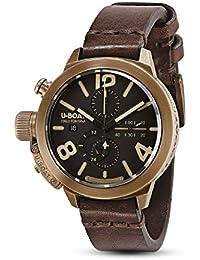 U-Boat Classico reloj automático, bronce, marrón, 45mm, cronógrafo, 8063