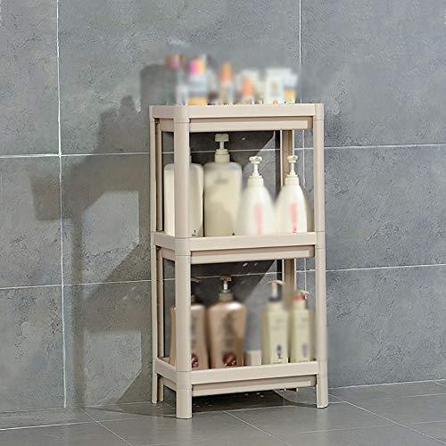 S&RL Ablagefach Regal Gewürzregal Badezimmer Kunststoff Standwaschbecken Ablage für Küche und Verschiedene Abstellräume, Weiß, 4-stufig (Badezimmer Standwaschbecken)