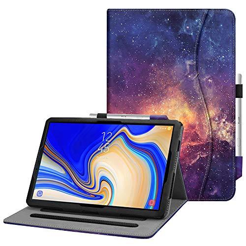 Fintie Hülle für Samsung Galaxy Tab S4 10.5 T830 / T835 2018 Tablet - Multi-Winkel Betrachtung Kunstleder Schutzhülle mit Dokumentschlitze und S Pen Halter, Auto Schlaf/Wach Funktion, Die Galaxie