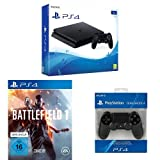 PlayStation 4 (1TB, schwarz, slim) Battlefield 1 Bundle inkl. 2 DualShock 4 Wireless Controller