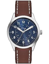 s.Oliver Jungen-Armbanduhr Analog Quarz Plastik SO-3112-PQ