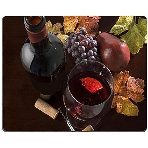 liili Mouse Pad de goma natural mousepad imagen ID: 2923856Vino Tinto Todavía vida con botella forma de pera, diseño de uvas corcho Sacacorchos Descenso colores en superficie de madera