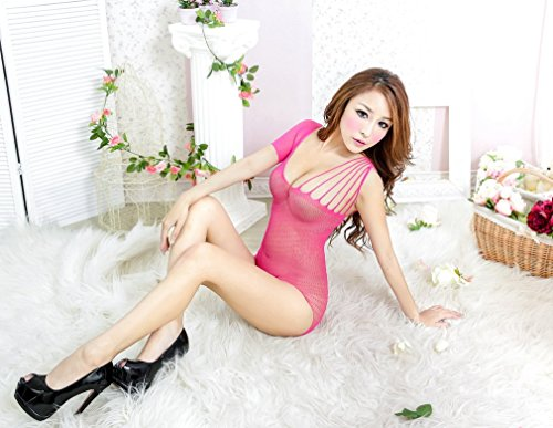 Smile YKK Femme Sous-vêtements Bikini Simois Ouvret entrejambe de nuit Nuisette Lingerie Sexy Badydoll Erotique Rose Rouge