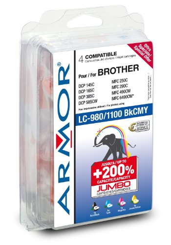 Preisvergleich Produktbild Multipack komp. zu Brother LC-980BK/C/M/Y B10145R1