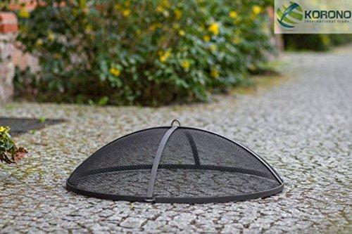 Korono Funkenglut Gitter Schutz Deckel Ø 80cm Stahl - für Feuerschalen Feuerkörbe - saubere Lösung