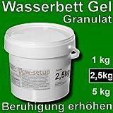 Wasserbett Gel Granulat - Vergelung von Wasserkernen in Wasserbetten, Gelbetten, Freeflow Betten Matratzen, Veränderung der Beruhigung - jederzeit wieder senkbar. Wählen Sie aus 3 Größen. (2.5 kg Eimer)