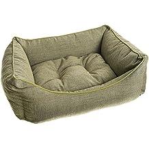 Cama Para Perros y Gatos Cuna Mullida Varias Medidas (55x65cm, Verde)