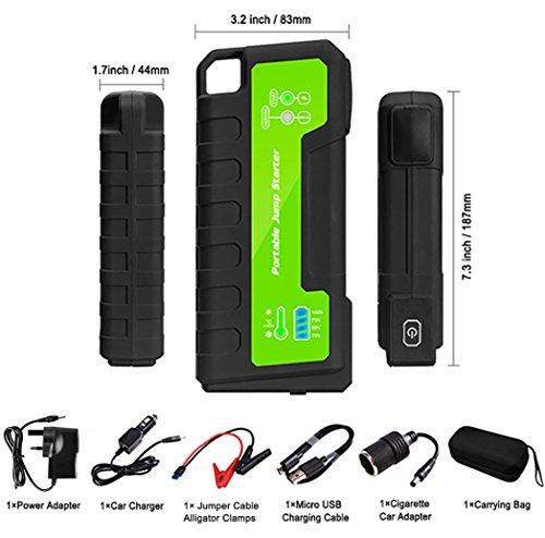 51RRigIUihL - Maxesla Jump Starter de 18000mAh, 850A Batería Arrancador de Coche (Batería Externa Recargable, LED Flashlight,smartphones, tablets pc)