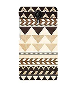 FUSON Tribal Seamless Pattern 3D Hard Polycarbonate Designer Back Case Cover for Micromax CanvasNitro4G E371