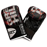 GREEN HILL GUANTI DA SACCO SPEED NERI BOXE PUGILATO BAG GLOVES FIT (Nero, M)