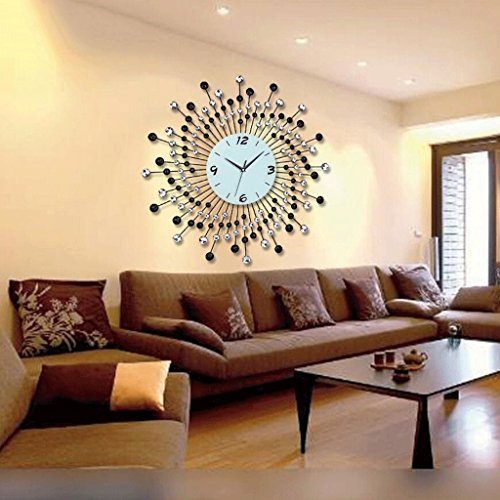 YYF Wanduhr Schmiedeeisen Garten Kunst Uhr Kreative Wanduhr Wohnzimmer Schlafzimmer Stille Quarzuhr Mode Persönlichkeit Verbunden mit Der Tabelle