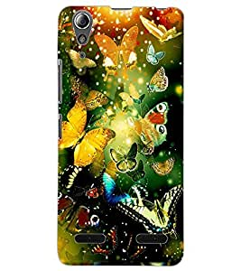 ColourCraft Beautiful Butterflies Design Back Case Cover for LENOVO A6000