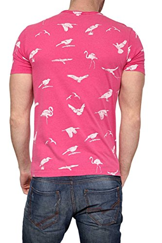 Phazz Brand Munich Herren Shirt Motiv T-Shirt RUSTY, Farbe: Pink Pink
