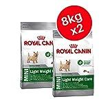Royal Canin Mini Light, Gewicht Care Adult Trockenfutter für Hunde 8kg (2Stück)