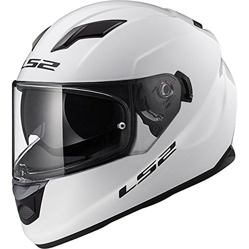 LS2 FF320 Stream EVO Doppel Sonnenblende Full Face Motorradhelm Integralhelme - Weiß XXS(51-52cm)
