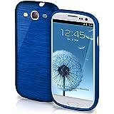 Funda protectora OneFlow para funda Samsung Galaxy S3 / S3 Neo Carcasa silicona TPU 1,5mm | Accesorios cubierta protección móvil | Funda móvil paragolpes bolso cepillado aluminio diseño en Navy-Blue