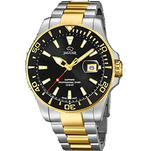 Jaguar Men's Watch J863/D Professional Driver Gold Plated