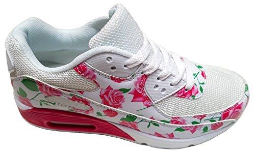 gibra , Baskets pour femme Blanc - Weiß/Pink