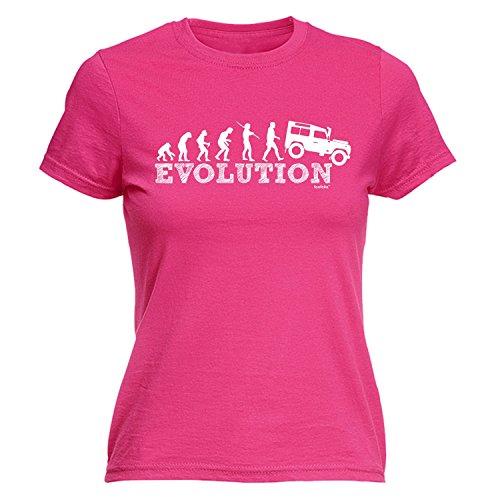 ladies-evolution-4x4-m-hot-pink-new-premium-fitted-t-shirt-slogan-funny-clothing-t-shirt-joke-novelt