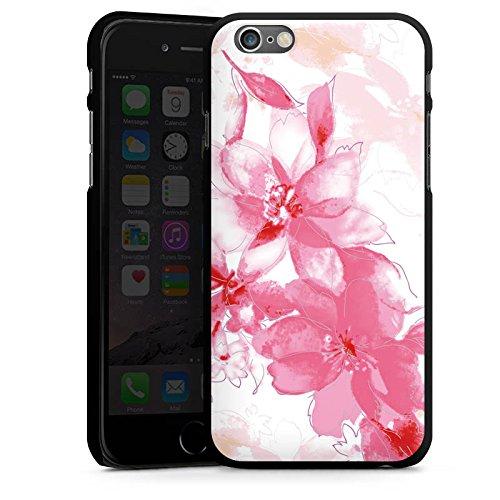 Apple iPhone 5 Housse Étui Silicone Coque Protection Fleur Dessin Feuilles CasDur noir