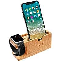 Apple Watch Stand, Aerb 3 en 1 Bamboo Wood iWatch Stand Support de chargement Support de recharge Dock de Chargement Station d'accueil For Apple Watch & iPhone 8 8 plus 7 7Plus 6 et plus de smartphones