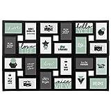 Cornice portafoto da parete - Multipla, effetto collage - Colore nero - Capacità 24 foto