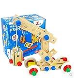 Kinderhände schlagen Kranspielzeugauto montiert Eintrag
