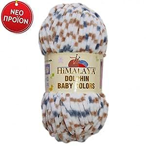 5 x 100 G super bulky himalaya dolphin baby colors laine pour tricot häckeln basteln. 100, et %de polyester et super flauschig. 80416 coloris :