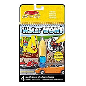 Melissa & Doug- Water Wow Hehículos Bloc Revelador para Colorear con Agua, (15375)