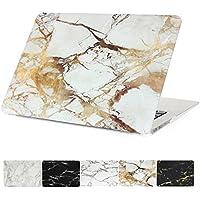 MacBook Air 13 caso, papyhall Mármol Cristal Carcasa rígida Carcasa Color con purpurina diseño de plástico recubierto de goma duro caso para MacBook Air de 13 pulgadas A1369/A1466 - Marble Gold+White
