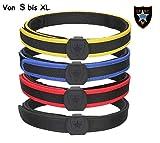 Maximtac IPSC Klett-Gürtel/Koppel in 4 Farben und 4 Größen S-M-L-XL mit Untergürtel und Obergürtel sehr stabil und steif mit Klettverschluss Farbe Blau, Größe XL Taillenumfang 110-130 cm