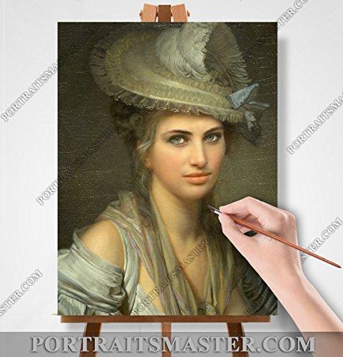 Ihre Portrait in Öl ! Historische oder Stil. Geschenkidee ! (20х30cm/A4) auf Leinwand mit Keilrahmen. -