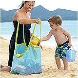 Yezelend Strand Aufbewahrung Tasche Netz Sandspiel Netztasche für Sandspielzeug, Extra Große Familie Mesh Beach Sandspiel Netz