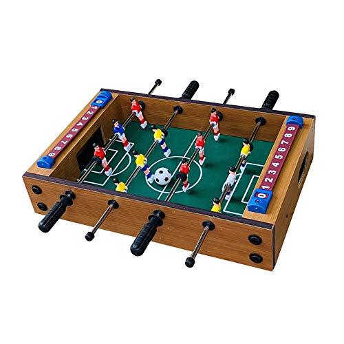 Hnks Tischkicker Table Top Kicker Fussball Spiel Tragbare Mini-Freizeithand Tisch Wettbewerb Tischspiele for Erwachsene und Kinder (Farbe, Size : 34.5x21.5x8cm)