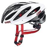 Uvex Fahrradhelm Boss Race, White-Black, 52-56, 4102290815