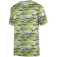 Augusta Sportswear Boys' Mod Camo Wicking Tee S Lime Mod