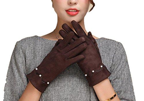 LQABW New Touch Screen Handschuhe Damen Wollhandschuhe,Brown (Treiber Kostüm Baby)