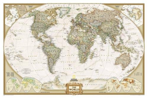 World Executive, Tubed: Wall Maps World (National Geographic Guidemap for States) por National Geographic Maps