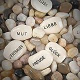 10-tlg. Set Glückssteine mit Spruch Gastgeschenke Steine
