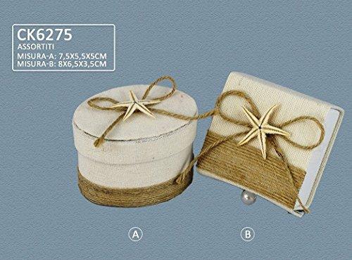 Confezione 30 pezzi, bomboniera scatola con stella marina, portaconfetti, x segnaposto, portaconfetti, confettata (ck6275)