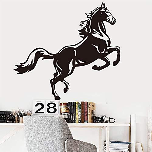 wukongsun Pferdekunst Tier wandaufkleber Wohnzimmer Dekoration zubehör schwarz XXL 64 cm X 58 cm -