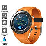 Taslar™ Screen Protector Arc Edge Tempered Glass Scratch Screen Protector Guard Card for Huawei Watch 2