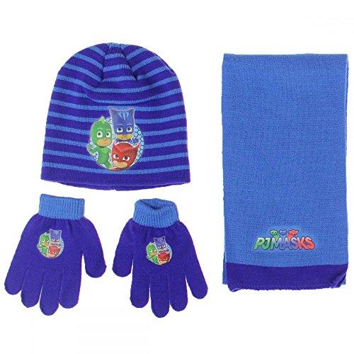 Gorro completo y guantes Baby PJ MASKS Original Tg.U.
