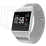 Bracciale Magnetico per Fitbit Ionic con Protezioni Schermo, AFUNTA Banda Orologio da Sostituzione Loop Milanese da 6,7'- 8,1' e 3 pezzi di pellicole protettive TPU Anti-graffi per Smart Watch